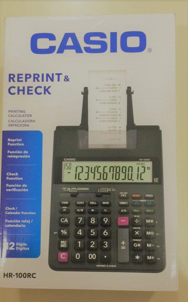 calculadora de impresion casio